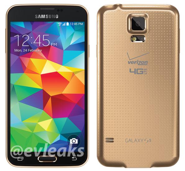 galaxy s5 gold verizon