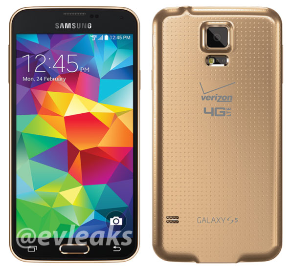 galaxy s5 gold verizon