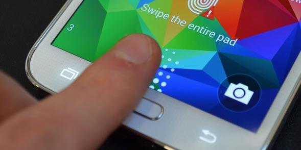 fingerprint on samsung galaxy s5